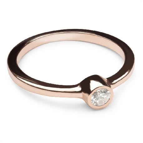 """Помолвочное кольцо с алмазом """"Объятная 6"""""""