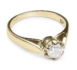 """Saderināšanās gredzens ar briljantu """"Vienīgā 34"""""""