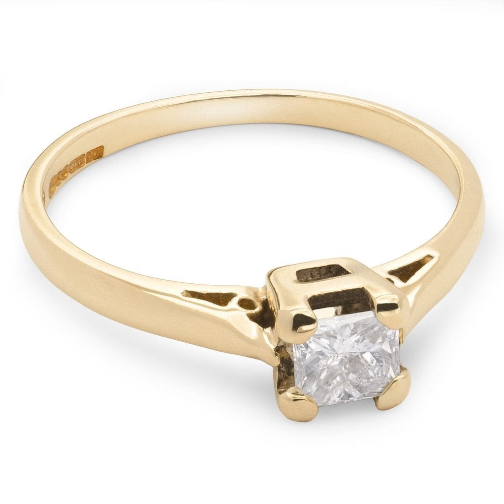 """Помолвочное кольцо с алмазом """"Принцесса 7"""""""