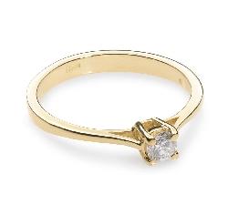 """Помолвочное кольцо с бриллиантом """"Прочность 19"""""""