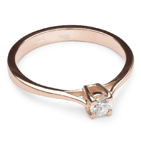 """Помолвочное кольцо с бриллиантом """"Прочность 20"""""""