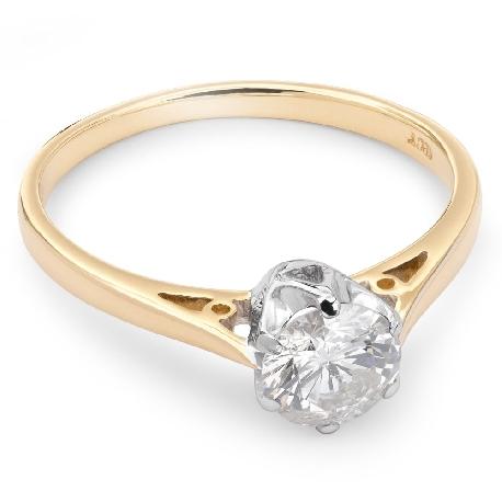 """Помолвочное кольцо с бриллиантом """"Единственная 36"""""""