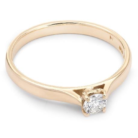 """Помолвочное кольцо с бриллиантом """"Прочность 22"""""""