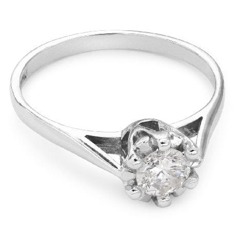 """Помолвочное кольцо с Бриллиантом """"Единственная 38"""""""