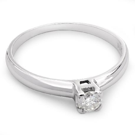 """Золотое кольцо с бриллиантом """"Прочность 24"""""""