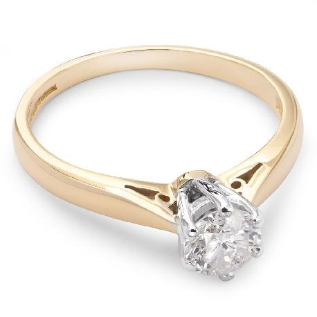 """Помолвочное кольцо с бриллиантом """"Единственная 40"""""""