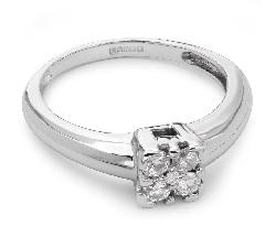 """Помолвочное кольцо с Бриллиантами """"Бриллиантовый цветок 8"""""""