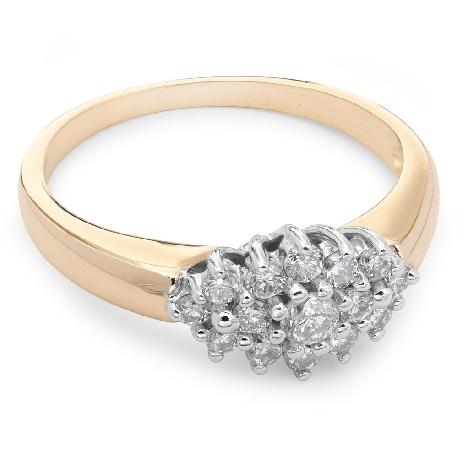 """Saderināšanās gredzens ar briljantu """"Briljanta zieds 9"""""""