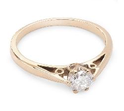 """Помолвочное кольцо с бриллиантом """"Единственная 44"""""""
