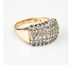 """Auksinis žiedas su Briliantais """"Teatras"""""""