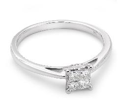 """Saderināšanās gredzens ar briljantu """"Princeses 10"""""""