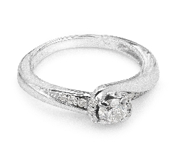 """Zelta gredzens ar dimantiem """"Dzīve"""""""