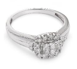 """Золотое кольцо с алмазами """"Бриллиантовый букет 2"""""""