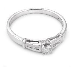 """Помолвочное кольцо с Бриллиантами """"Грациозность 9"""""""