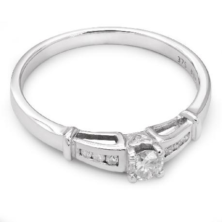 """Золотое кольцо с алмазами """"Грациозность 9"""""""