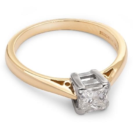 """Saderināšanās gredzens ar briljantu """"Princese 8"""""""