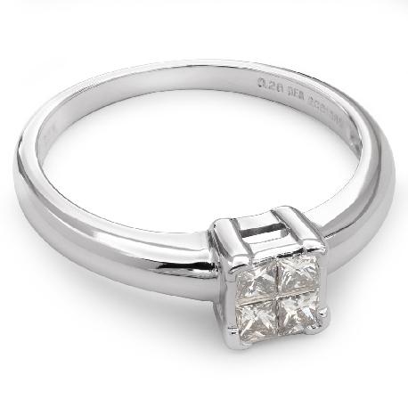 """Помолвочное кольцо с алмазами """"Принцессы 8"""""""