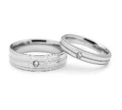 """Laulību gredzeni ar dimantiem """"VMA 113"""""""