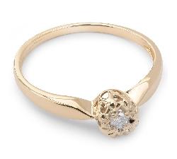 """Помолвочное кольцо с бриллиантом """"Возлюбленный 13"""""""