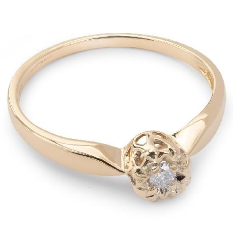 """Saderināšanās gredzens ar briljantu """"Mīļais 13"""""""