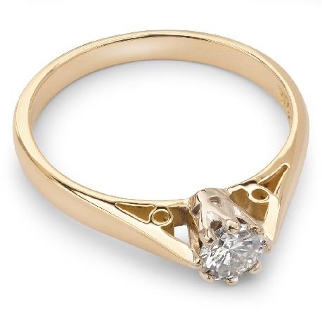 """Помолвочное кольцо с VVS бриллиантом """"Единственная 7"""""""