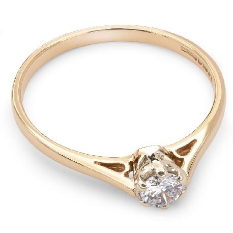 """Помолвочное кольцо с бриллиантом """"Единственная 6"""""""
