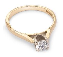 """Помолвочное кольцо с бриллиантом """"Богиня 20"""""""