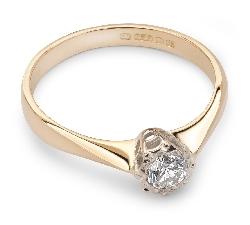 """Помолвочное кольцо с бриллиантом """"Единственная 9"""""""