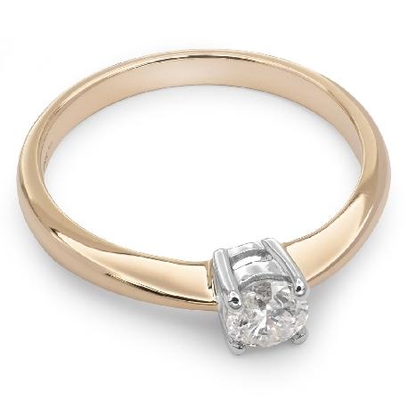 """Помолвочное кольцо с бриллиантом """"Прочность 33"""""""