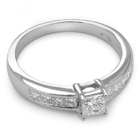 """Saderināšanās gredzens ar dimantiem """"Princeses 14"""""""