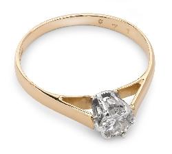 """Помолвочное кольцо с алмазом """"Единственная 11"""""""