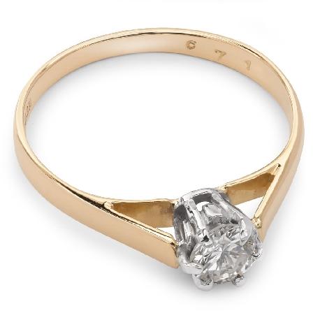 """Saderināšanās gredzens ar dimantu """"Vienīgā 11"""""""