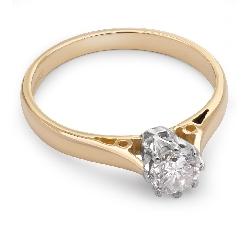 """Saderināšanās gredzens ar dimantu """"Vienīgā 12"""""""