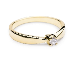 """Sužadėtuvių žiedas su Deimantais """"Elegancija 4"""""""