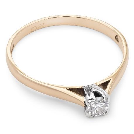 """Saderināšanās gredzens ar briljantu """"Dieviete 18"""""""