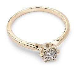 """Помолвочное кольцо с бриллиантом """"Бриллиантовый букет 3"""""""