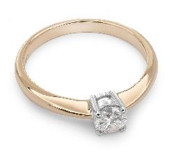 """Помолвочное кольцо с бриллиантом """"Прочность 35"""""""