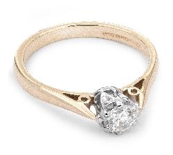 """Помолвочное кольцо с бриллиантом """"Единственная 16"""""""