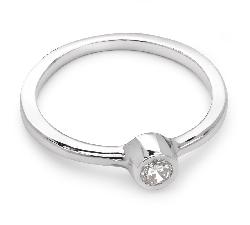 """Помолвочное кольцо с бриллиантом """"Объятная 10"""""""