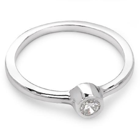 """Saderināšanās gredzens ar briljantu """"Apskautā 10"""""""