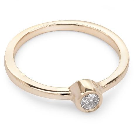 """Помолвочное кольцо с бриллиантом """"Объятная 11"""""""