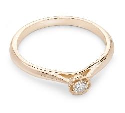 """Помолвочное кольцо с Бриллиантом """"Бриллиантовый цветок 12"""""""