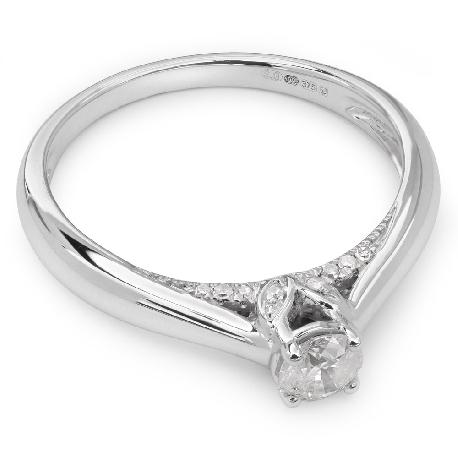 """Помолвочное кольцо с бриллиантом """"Грациозность 10"""""""