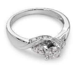 """Помолвочное кольцо с Бриллиантами """"Бриллиантовый цветок 14"""""""