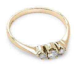 """Помолвочное кольцо с бриллиантами """"Трилогия 7"""""""