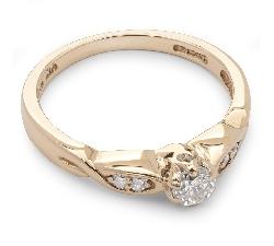 """Помолвочное кольцо с бриллиантами """"Грациозность 3"""""""