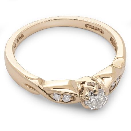 """Saderināšanās gredzens ar briljantiem """"Graciozitāte 3"""""""