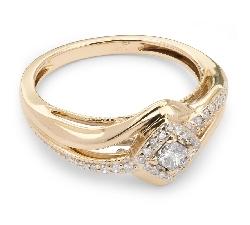 """Помолвочное кольцо с алмазами """"Грациозность 4"""""""