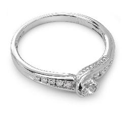 """Помолвочное кольцо с бриллиантами """"Грациозность 5"""""""