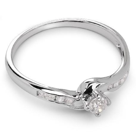 """Помолвочное кольцо с Бриллиантами """"Грациозность 6"""""""